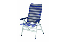 Crespo Klappsessel Luxus PLUS blau-grau